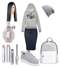 """Untitled #64"" by pentecostal-apostolicfashion2016 on Polyvore featuring NIKE, Devoted, Victoria's Secret, Poverty Flats, The North Face, Bare Escentuals, Christian Dior and Viktor & Rolf"
