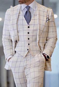 Ideas Wedding Suits Men Blue Purple For 2019 Burgundy Suit, Blue Suit Men, Black Suits, Plaid Suit, Pinstripe Suit, Windowpane Suit, Workwear Fashion, Mens Fashion, Work Fashion