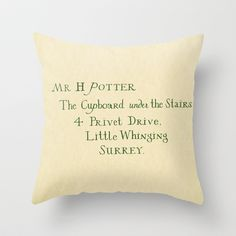 Mr. Harry James Potter Throw Pillow by Ashleigh - $20.00.....I need this.