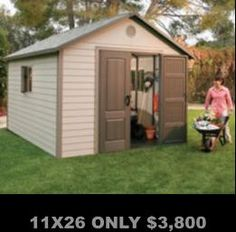 Storage Shed Sturdy, Steel Reinforced Construction