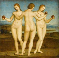 24 obras de arte do grande mestre renascentista Rafael -- As Três Graças