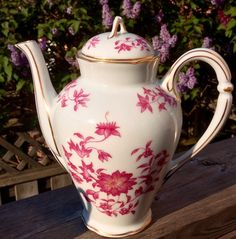 "Pretty Pink Addiction-Mint B & Co Limoges L  Bernardaud ""Chang-Hai"" Tea Pot by PrettyPinkAddiction on Etsy"