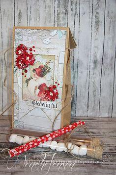 Scrappelyst: Gaveposer til jul: chokolade, skumfiduser og sugerør