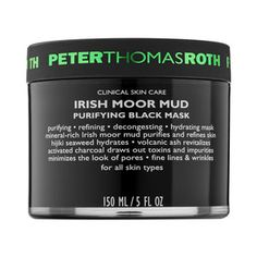 """Peter Thomas Roth - Irish Moor Mud Purifying Black Mask #sephora  """"This really works, I use it after the sulfur mask that I have pinned on this board as well. This mask offers a moisturizing cleansing effect after the drying effect of the sulfur mask""""-SB"""