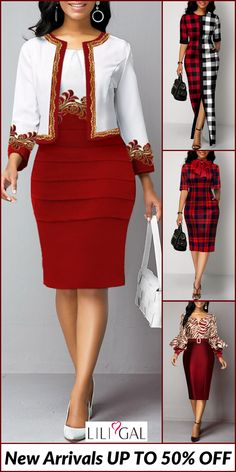 @ your bff to celebrate the party~ Up to 50% off, free shipping worldwide. Shop sequin party dress, red plaid print holiday dress at Liligal, show your beauty on this holiday. #liligal #dresses #party #nye