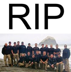 The 19 Firefighters killed fighting the wildfires near Yarnell, Arizona, 7/2/13.