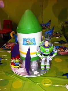 Idea for Eli's 2nd birthday - Buzz Lightyear Rocket Cake