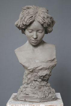 portrait busts | daniel sinclair clay portrait of bernice