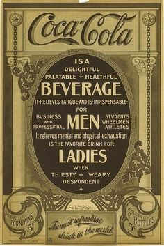 1910 poster = Coca Cola promised this was a 'healthful' drink ! ( When original. - 1910 poster = Coca Cola promised this was a 'healthful' drink ! ( When original recipe was per -
