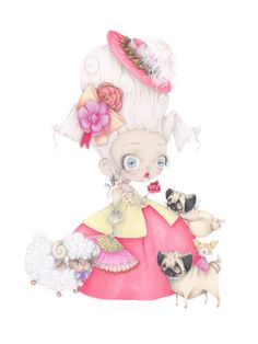 Hey, I found this really awesome Etsy listing at https://www.etsy.com/listing/242701315/marie-antoinette-pop-surrealism-movie