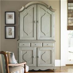 Paula Deen Home Armoire with Bar Hutch by Paula Deen by Universal - Knoxville Wholesale Furniture - Bar Knoxville, Tennessee