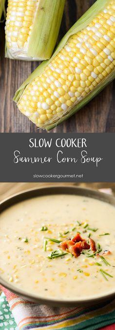 Slow Cooker Summer Corn Soup