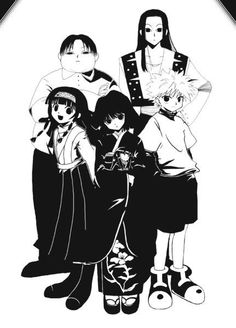 Milluki, Alluka, Kalluto, Killua, and Illumi ~Hunter X Hunter