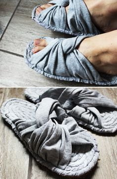 How to Make Home Slippers from Old Pants DIY Upcycling Jak Zrobić Kapcie ze Spodni Hi In today's video, I show you how to use old pants. I almost used my pants to make slippers. Have fun watching and creating (*^^*) How To Make Slippers, Clothes Crafts, Shoe Boots, Shoes, Cool Watches, Diy Tutorial, Crochet, Sewing Projects, Sewing Patterns