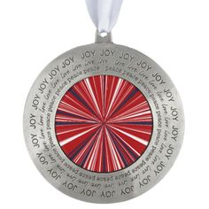 3-D explosion in Patriotic Colors Pewter Ornament