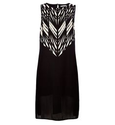 Graphic-printed sleeveless dress