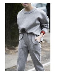"""milano. #mfw #streetstyle #fashionweek #minimal #fashion #set #track #suit #jumper #sweatshirt"