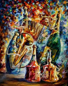 3 bottle jazz - Leonid Afremov