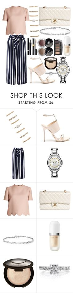 """330."" by plaraa on Polyvore featuring Forever 21, Giuseppe Zanotti, Monsoon, Karl Lagerfeld, Valentino, Chanel, Marc Jacobs, Becca and Mark Broumand"