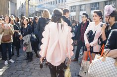#pink #jacket #with #half #bubble #shape