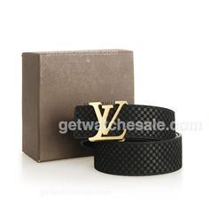 Louis Vuitton Men's Damier Calfskin Leather Belt, Polished Goldtone Initial LV Buckle, Black LV embossed calfskin leather lining;Initial LV gold-tone buckle secures. $79.00 with Free Shipping, Our site offers lv belts for cheap: www.getwatchesale.ru/cheap-louis-vuitton-belts-on-sale-cb290.html , come and find your dream louis vuitton belts