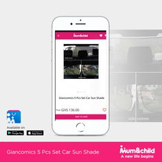 The sun has been shinning so much lately, how do you prevent your baby from getting burnt by it?  Get these sun shades for your car on mumandchild.com or download our app to shop easier. #Anewlifebegins #freedelivery #ghana #onlineshopping #babyshop #babies #motherhood #carshade #nationwidedelivery