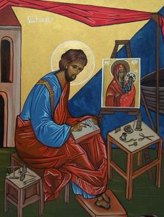 St. Luke painting the first icon