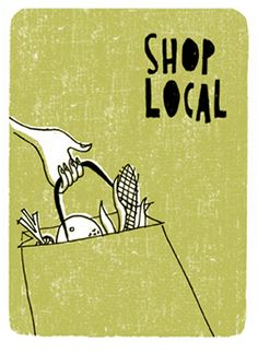 Shop Local this holiday season! {Hand lettering + illustration by Alanna Cavanagh} Buy Local, Shop Local, Agriculture, Budget Holidays, Support Local Business, Chef D Oeuvre, Green Life, Food Illustrations, Change The World