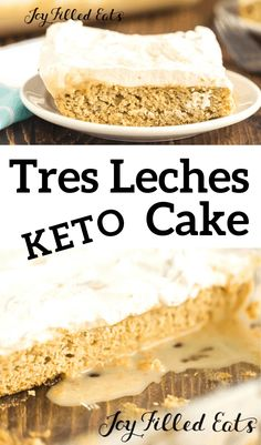 The first time I tried Tres Leches Cake at a Cuban restaurant I fell in love. You will too with my low carb, sugar free, gluten & grain free, THM S version. Gluten Free Grains, Gluten Free Recipes, Low Carb Recipes, Ketogenic Recipes, Ketogenic Diet, Almond Joy, Tres Leches Cake, Joy Filled Eats, Low Carb Cheesecake