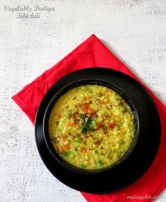 Vegetable daliya khichdi