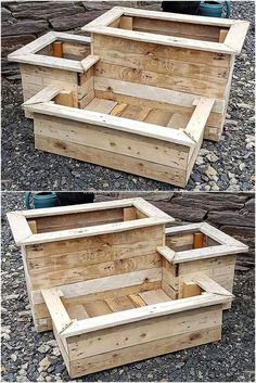 Original DIY ideas for Recycling wood pallet planters ideas for planters # . - UPCYCLING IDEAS - Original DIY ideas for Recycling wood pallet planters ideas for planters # …, pallets -