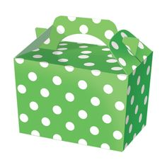 Green Polka Dot Food Boxes  - Buy Now, Extrabits.co.uk