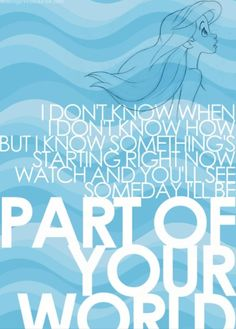 30 Ideas Quotes Disney Little Mermaid Songs For 2019 Disney Dream, Disney Girls, Disney Love, Disney Magic, Disney Princess Movies, Disney Songs, Disney Quotes, Disney Princesses, Princess Quotes