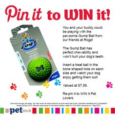 Would your buddy love to play with the pawsome Rogz Gumz Ball? Re-pin it now!