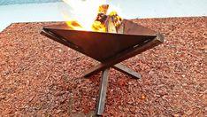 Handmade outdoor metal modern firepit- Industrial fireplace garden and yard