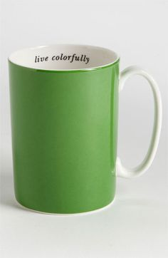 kate spade new york 'say the word - live colorfully' porcelain mug available at #Nordstrom