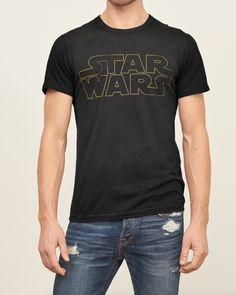 ABERCROMBIE & FITCH Vintage Short Sleeve Star Wars Graphic Tee Shirt Black M $48 #AbercrombieFitch #GraphicTee
