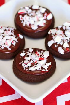gluten free vegan frosted chocolate peppermint cookies
