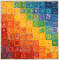 Quilt artístico, magnífico uso del color