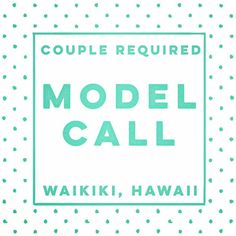 Could you be our eloping couple on Waikiki Beach on 10th or 11th March?  Looking for a lighthearted and in love couple to help us explore Waikiki and show off this gorgeous elopement location.  I have dresses and accessories for our couple and we will have a lot of fun as we investigate places to visit on an elopement to Waikiki.  Food and drinks provided and you'll get some awesome images from your time with us.  Gentlemen to provide own relaxed formal wear (this is Hawaii after all!)…