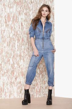 Vintage Debbie Does Denim Jumpsuit