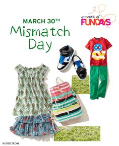 March 30th - Mismatch Day  Reminds me of Brandi as a little girl.  just think they named a day for her! Ha!