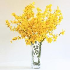 New arrival yellow dancing orchid silk flowers wedding flowers artificial flowers gifts home decorations imitate flower