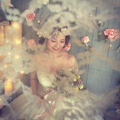 「レース越しのステキな一枚… ・ ・ ・ dress @okinawabridaljoy ・ direction&decoration #cinderelladecoration wakako…」
