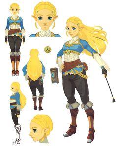 Zelda Concept from The Legend of Zelda: Breath of the Wild