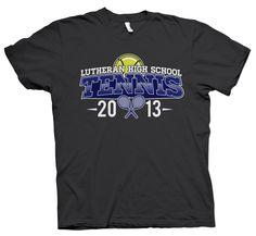 Shirt Kong: #LHS #lutheran #highschool #tennis #tshirt #screenprinting #2013 #team #royal #green #team