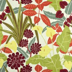 Shop Robert Allen @ Home Rowlily Jungle Fabric at onlinefabricstore.net for $22.9/ Yard. Best Price & Service.