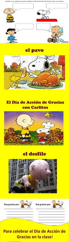 Celebrate Thanksgiving in Spanish class with Carlitos!