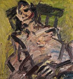 """""""Frank Auerbach (British, b. Ruth Bromberg Seated, Oil on canvas, 66 x cm. Figure Painting, Painting & Drawing, Figure Drawing, Frank Auerbach, Artist Art, Figurative Art, Traditional Art, Painting Inspiration, Art History"""