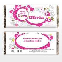 Groovy Doodle Love Chocolate Bar | Chocolate | Exclusively Personal